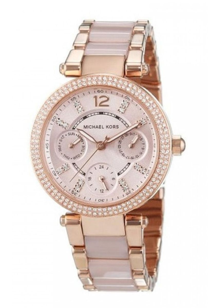 Gold color Chronographs . Michael Kors MK6110 Parker Mini Multi-Function Ladies Watch -