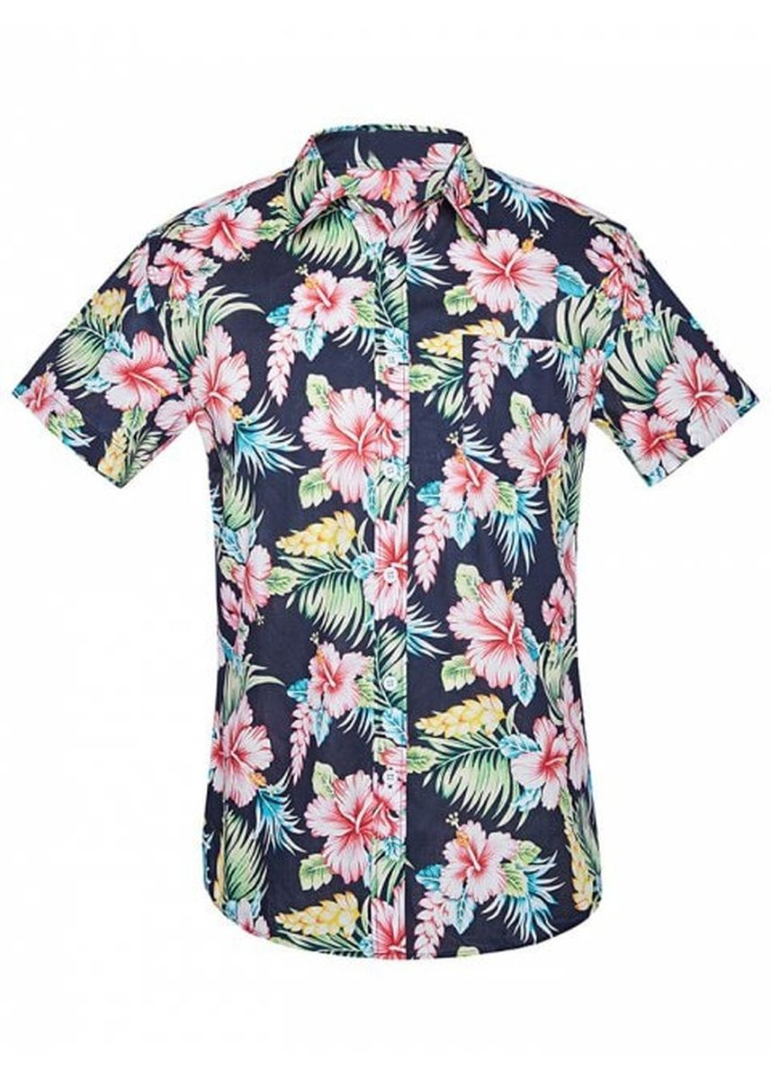 Multi color Casual Shirts . Flower Plant Print Short Sleeves Shirt -