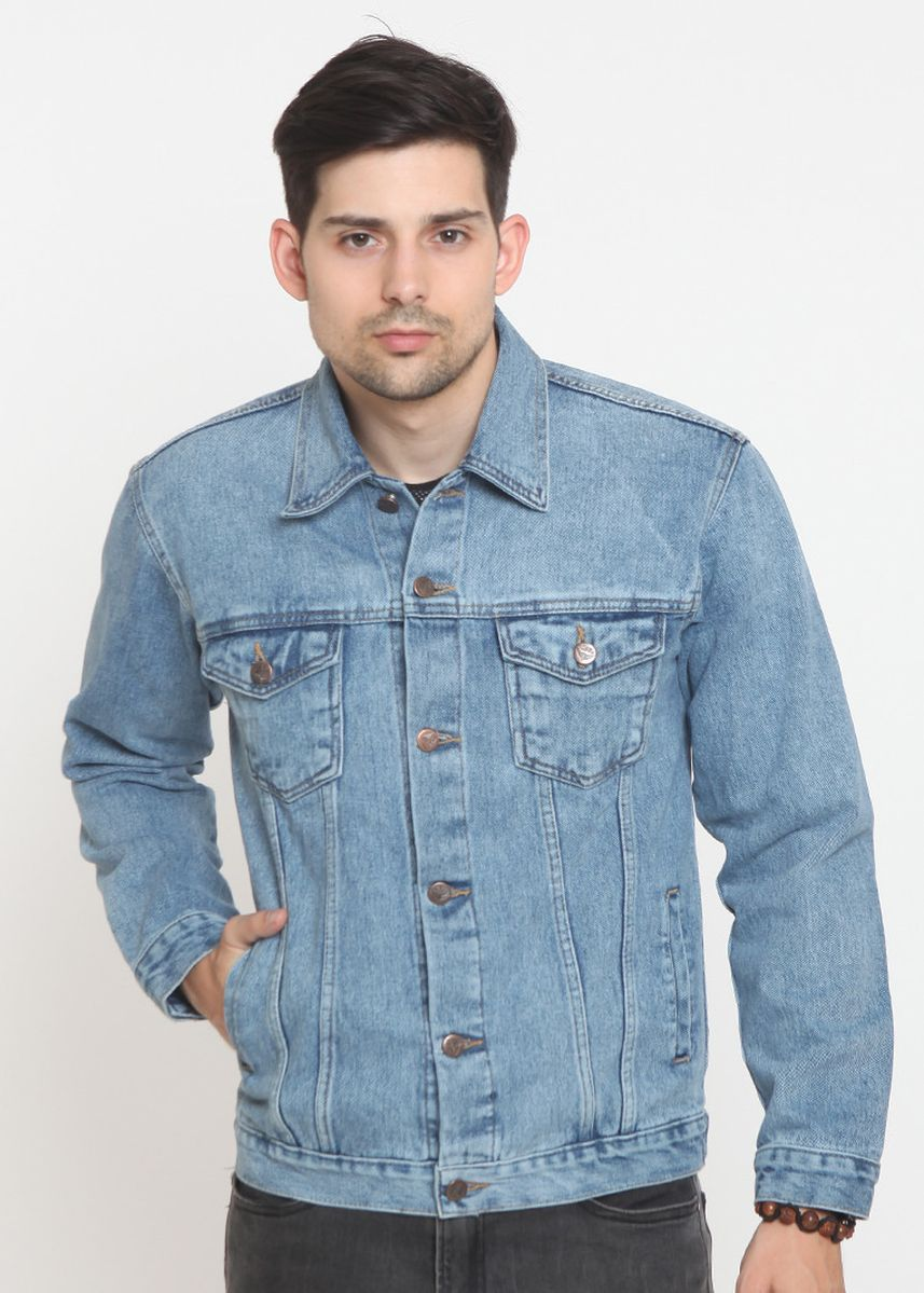 Light Blue color Jackets . 2Nd RED Jaket Denim with Button- 4 Warna  -