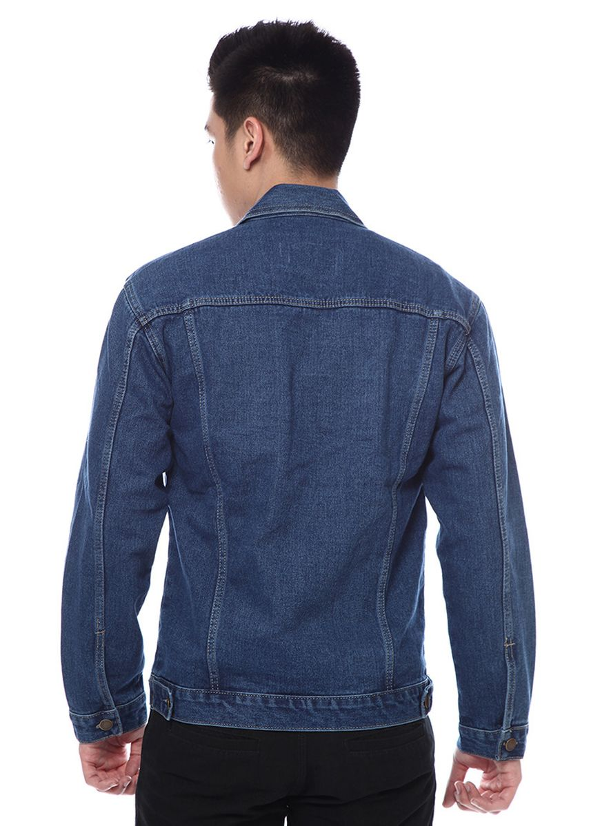 Blue color Jackets . 2Nd RED Jaket Denim with Button- 4 Warna  -