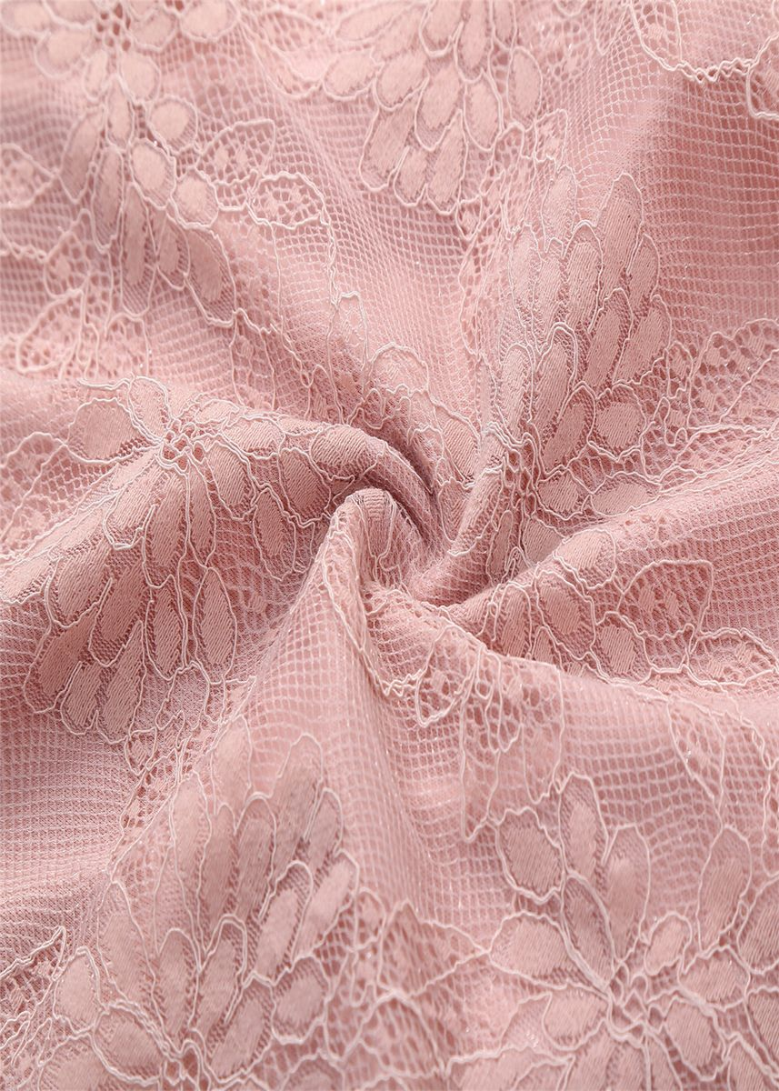 Pink color Dresses . Women's Lace Wedding Dress -