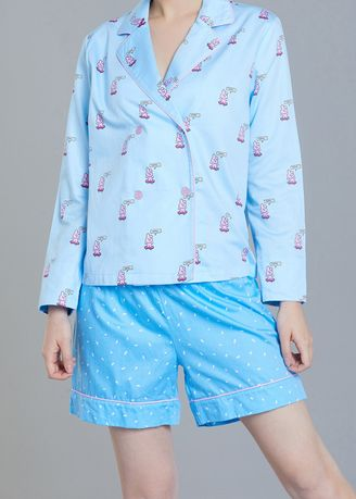 Blue color Pyjamas . BT21 x HUNT Crop Pajama Set Cooky Unisex HIPP91201T -