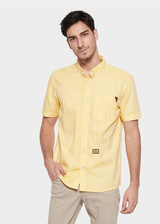 Kuning color Kemeja Kasual . EMBA JEANS-Blinker Beat Two Men's Shirt in  -