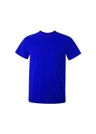 Blue color T-Shirts and Polos . Kaos Polos Pria (Biru) -