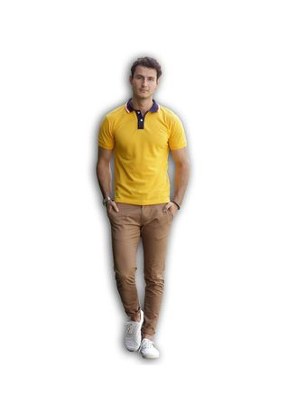 Gold color T-Shirts and Polos . Men's People's Pride Polo T-shirt -