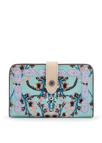 Multi color Wallets and Clutches . Sakroots Medium Wallet Light Blue Mojave Canyon -