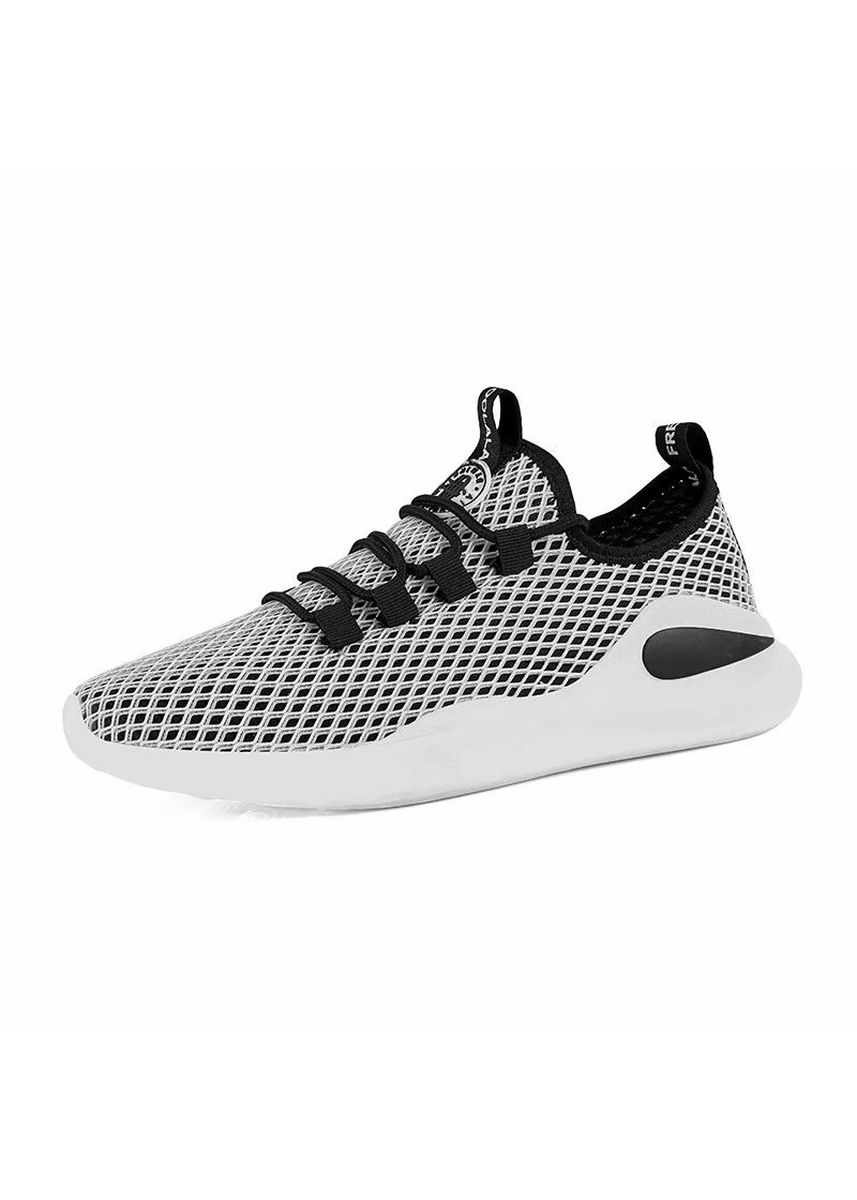 White color Casual Shoes . Breathable Summer Fashion Casual Shoes Lace-up -