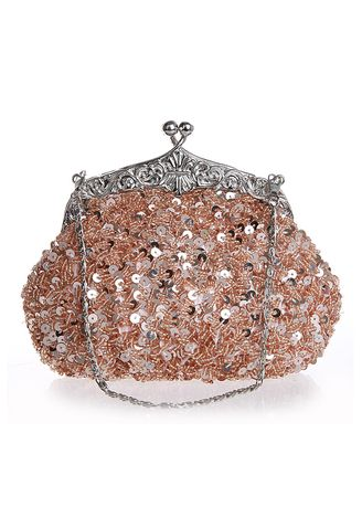 Pink color Wallets and Clutches . Ladies Wedding Cluth Bags Formal Party Bag -