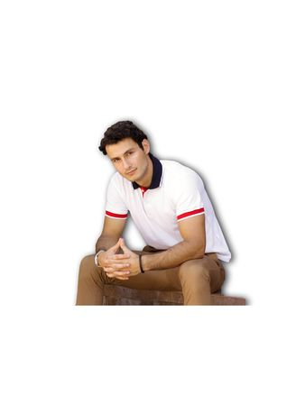 White color T-Shirts and Polos . Men's People's Pride Polo Shirt White w/Tipping's -