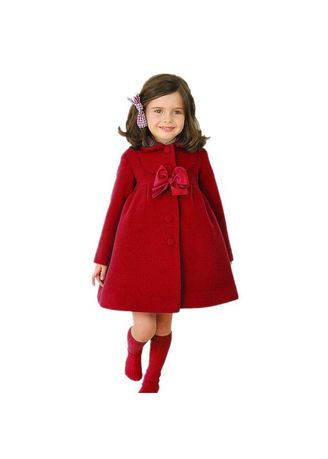 แดง color แจ็คเก็ต . Little Girls Coat Princess Autumn Windbreaker Jacket -