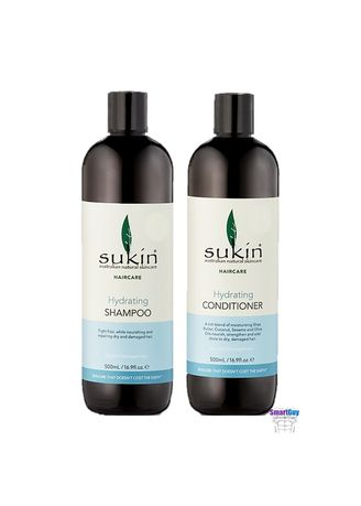 Blue color Shampoos & Conditioner . SUKIN AUSTRALIAN NATURAL Haircare Hydrating Shampoo & Conditioner 500ml.X2 ชุดผลิตภัณฑ์ดูแลเส้นผมและหนังศีรษะสูตรพิเศษ -
