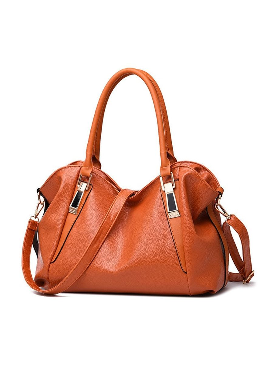 Brown color Hand Bags . Mairu HB-03 Tas Branded Tas Selempang Hand Bag Wanita Kulit Import Fashion - High Quality PU Leather Korean Elegant Bag Style -