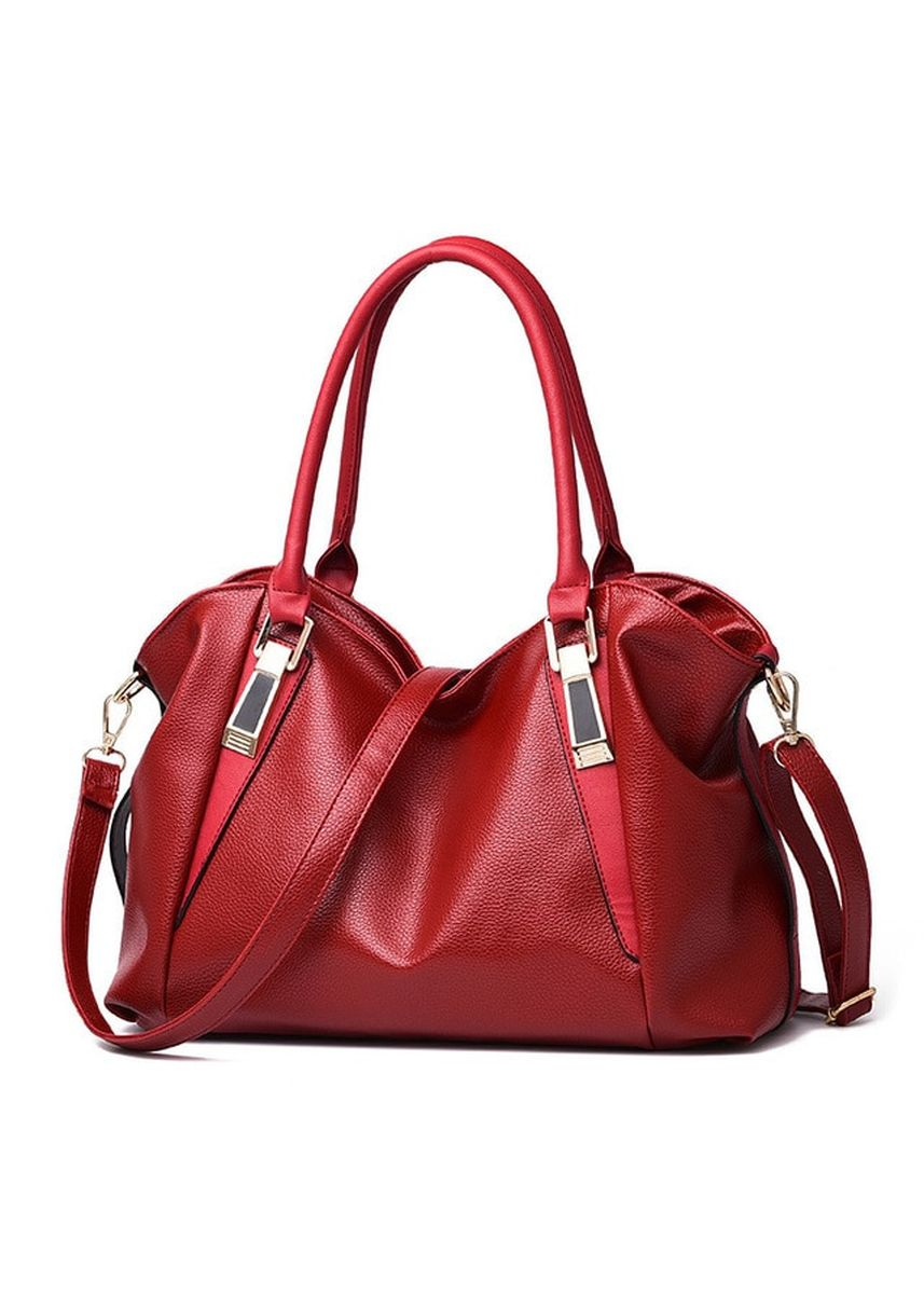 Red color Hand Bags . Mairu HB-03 Tas Branded Tas Selempang Hand Bag Wanita Kulit Import Fashion - High Quality PU Leather Korean Elegant Bag Style -