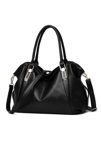 Black color Hand Bags . Mairu HB-03 Tas Branded Tas Selempang Hand Bag Wanita Kulit Import Fashion - High Quality PU Leather Korean Elegant Bag Style -
