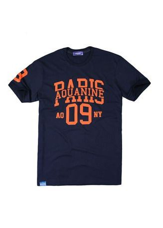 Navy color T-Shirts and Polos . AQUANINE - PARIS (สีกรม) -