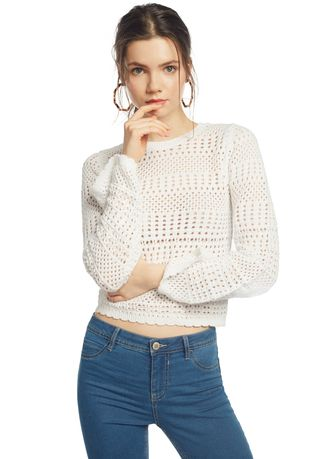 Tops and Tunics . OVS Crochet Knit Top With Kimono Sleeves -