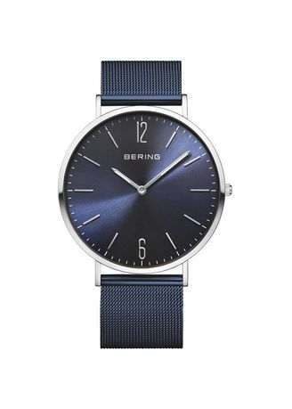 Blue color Analog . Bering Classic Blue 41 mm Men's Watch -