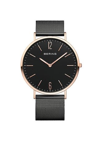 Black color Analog . Bering Classic Black 41 mm Men's Watch -