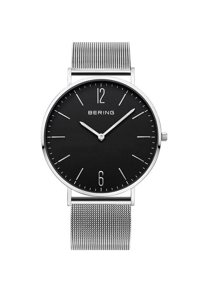 Silver color Analog . Bering Classic Black 41 mm Men's Watch -