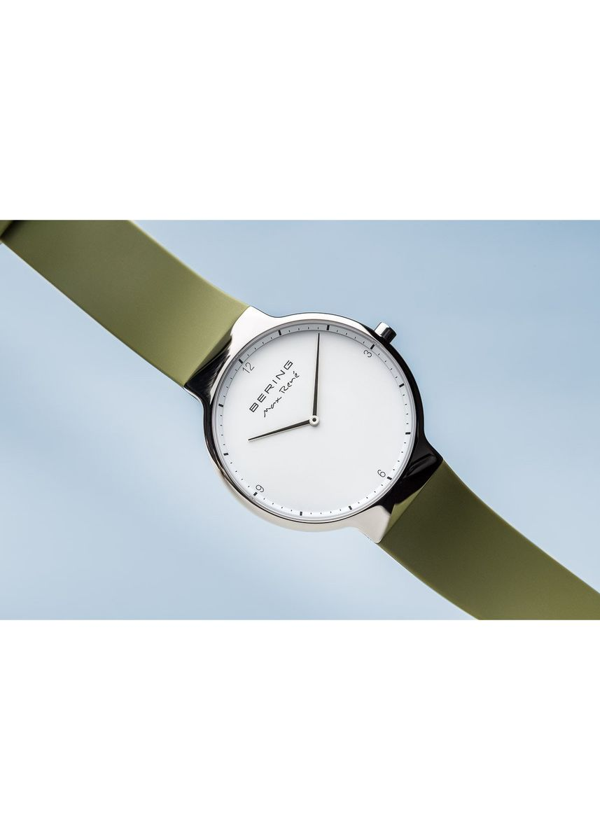 Green color Analog . Bering Max René 15540-800 White 40 mm Men's Watch -