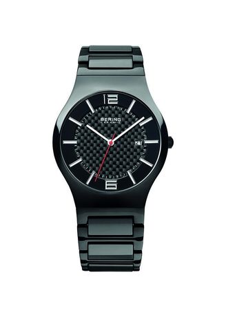 Black color Analog . Bering Ceramic 31739-749 Black 39 mm Men's Watch -