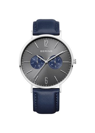 Blue color Chronographs . Bering Classic 14240-803 Grey 40 mm Men's Watch -