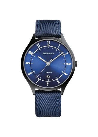 Blue color Analog . Bering Classic 11739-827 Blue 39mm Men's Watch -