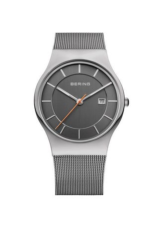 Grey color Analog . Bering Classic 11938-007 Grey 38 mm Men's Watch -