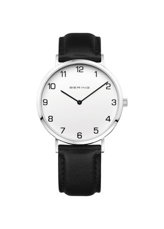 Black color Analog . Bering Classic 13940-404 White 40 mm Men's Watch -