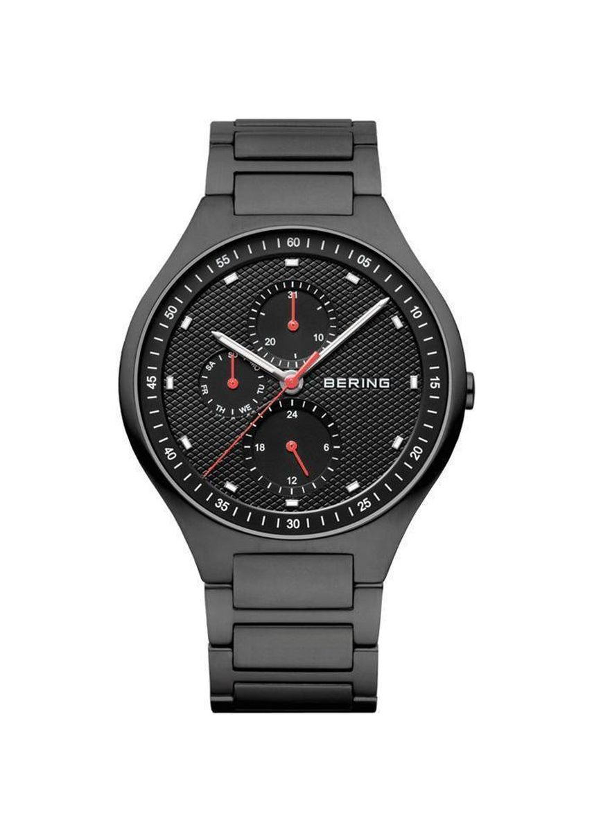 Black color Chronographs . Bering Classic 11741-772 Black 41 mm Men's Watch -