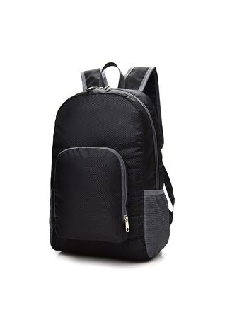 Black color Backpacks . Mairu ZD-03 Tas Ransel Travel Lipat - Foldable Backp -