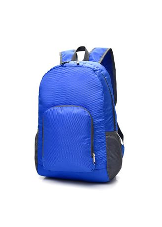 Cyan color Backpacks . Mairu ZD-03 Tas Ransel Travel Lipat - Foldable Backp -