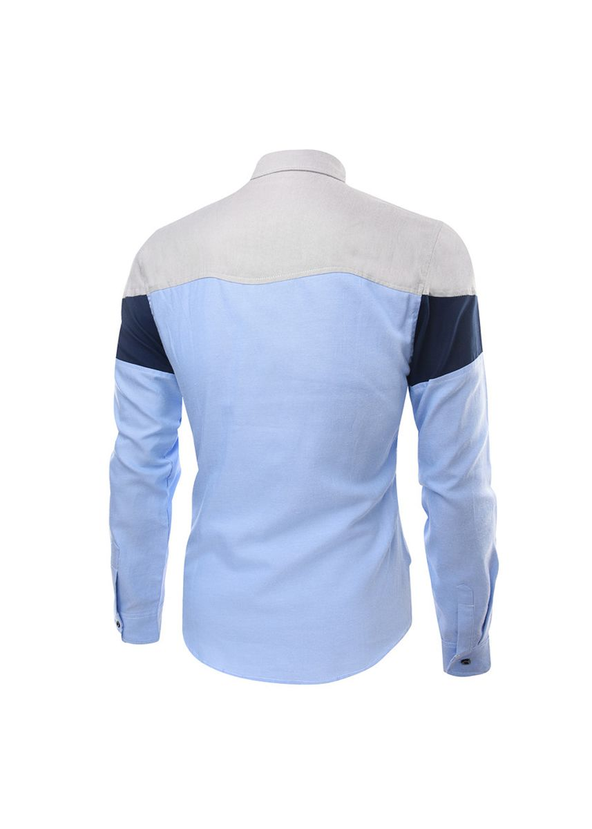 Light Blue color Casual Shirts . Fashion Coloured Large Size Men's Casual Shirts -