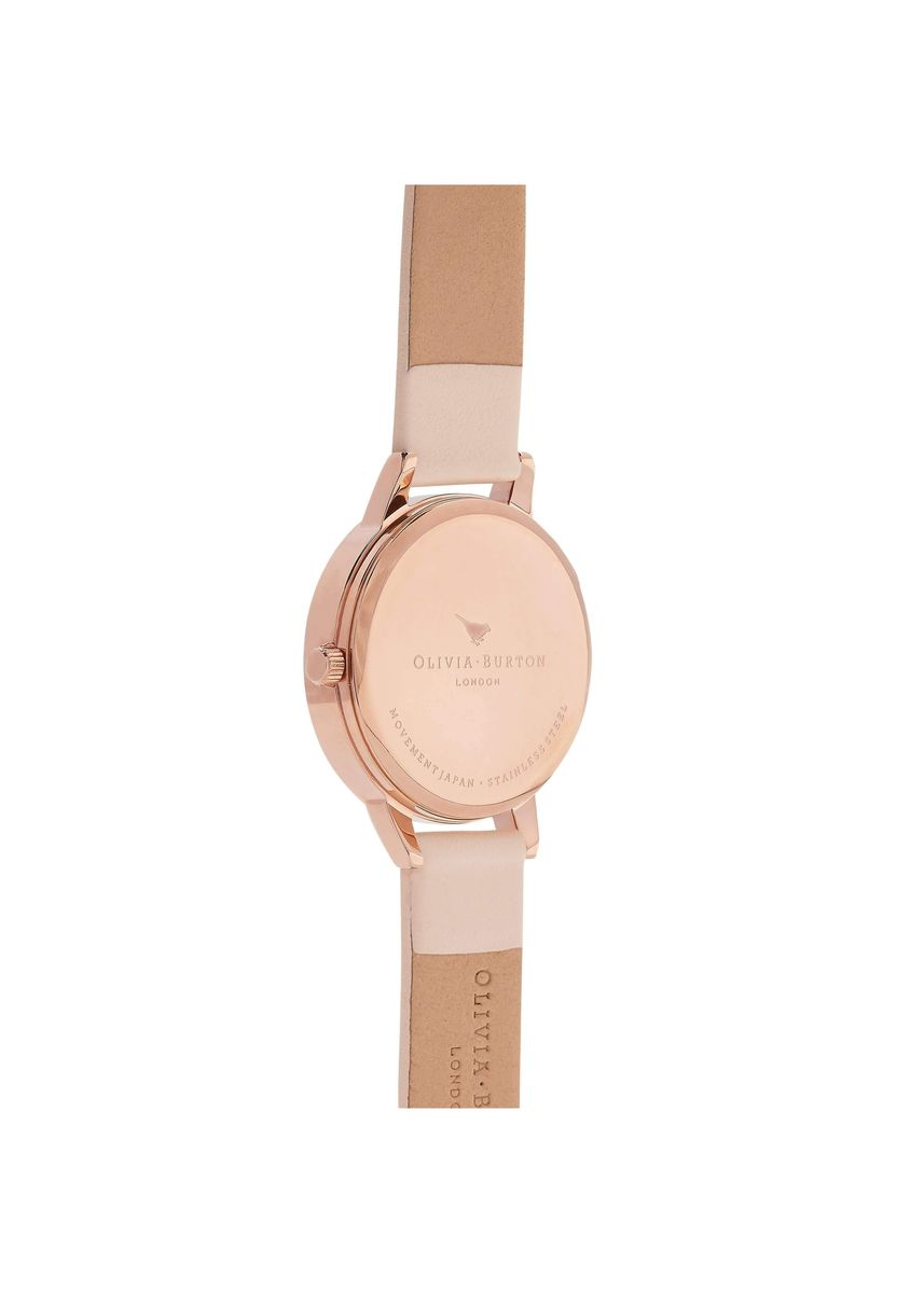Pink color Analog . White Dial Rose-Gold 30 mm Women's Watch -