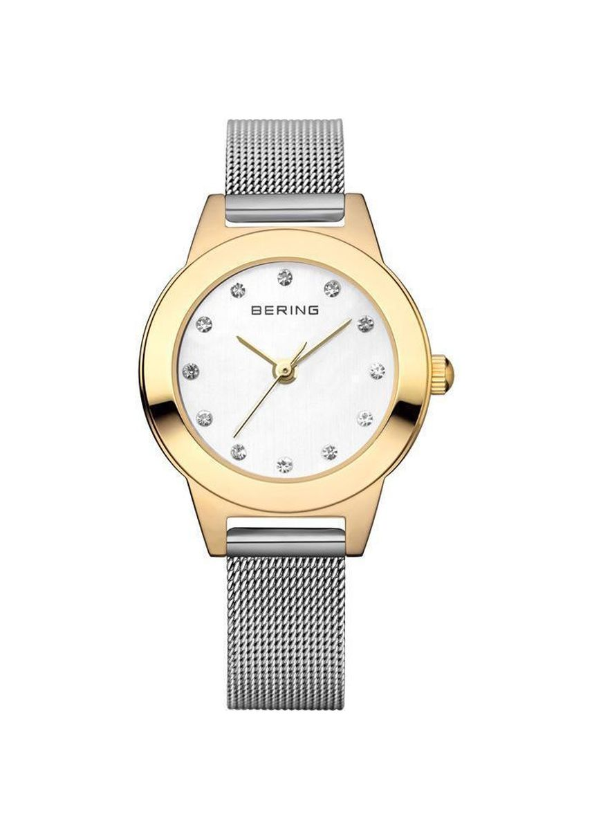 Gold color Analog . Classic White Dial 42 mm Women's Watch -