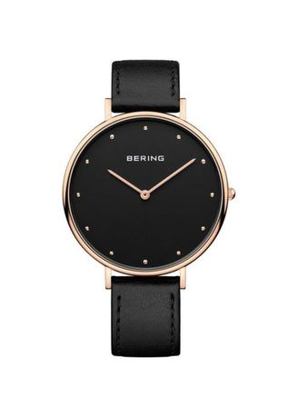 Black color Analog . Classic Black 39mm Women's Watch -