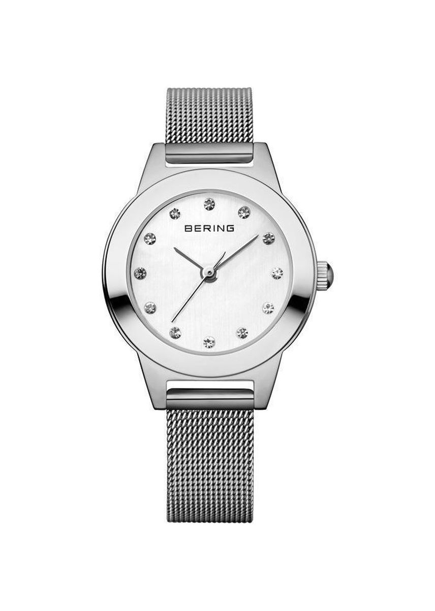 Silver color Analog . Classic 11125-000 White Dial 42 mm Women's Watch -
