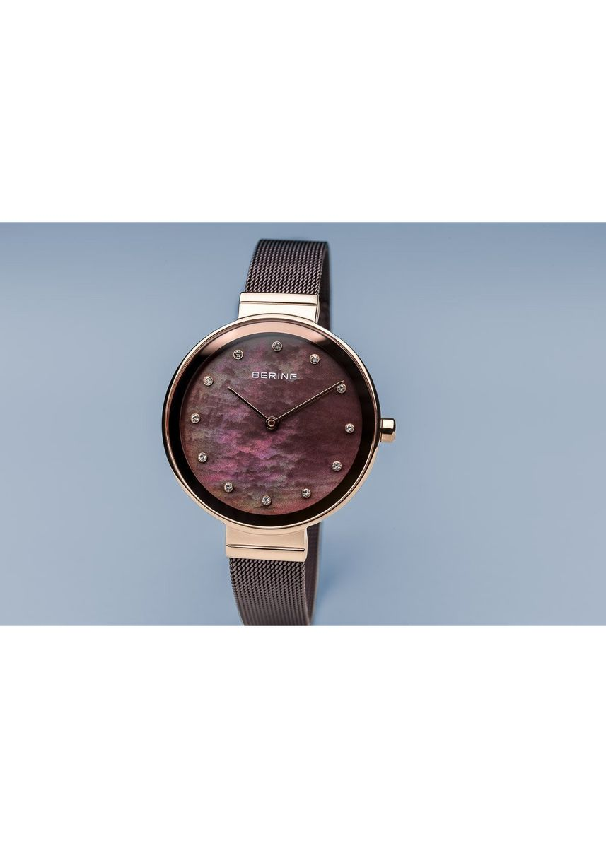 Pink color Analog . Classic 12034-265 Brown Dial 34 mm Women's Watch -