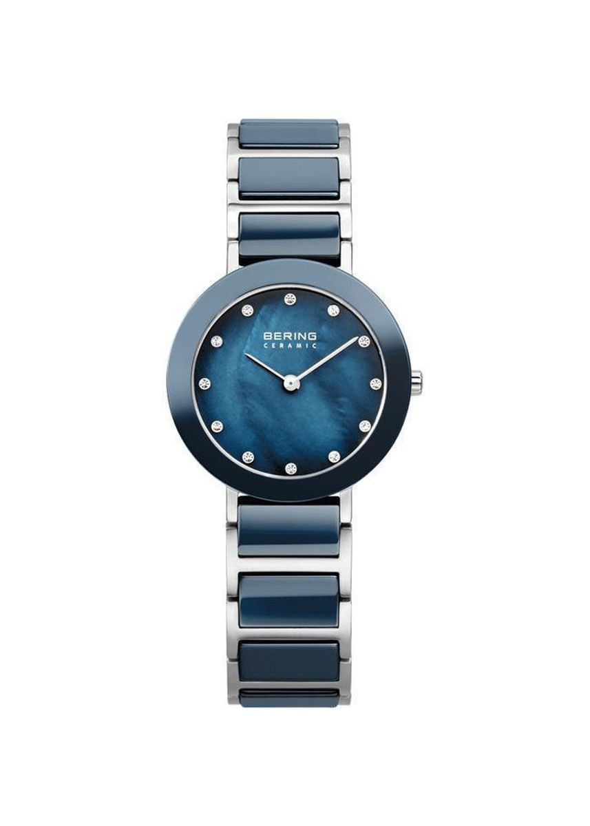 Blue color Analog . Ceramic 11429-787 Mother Of Pearl 29 mm Women's Watch -