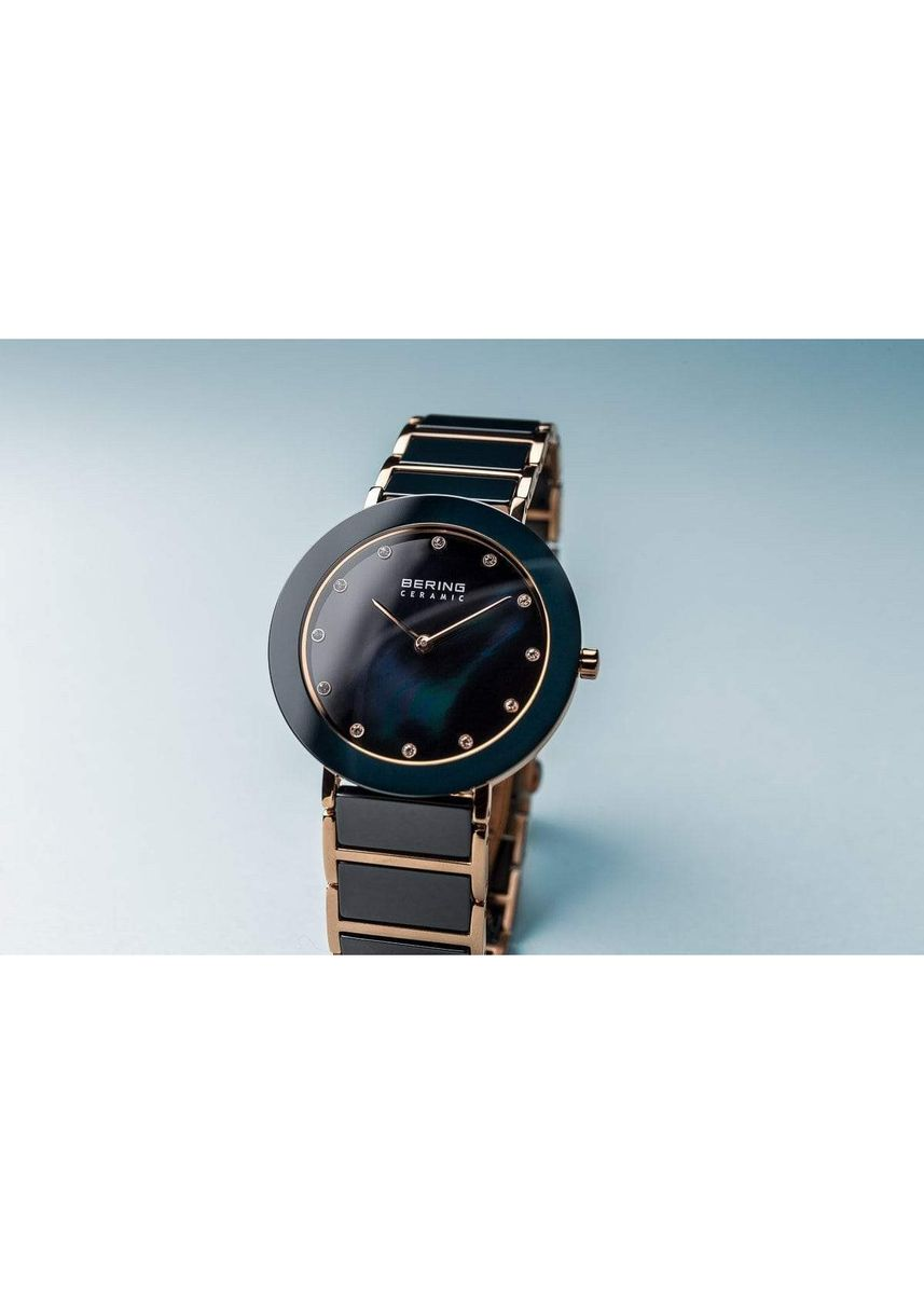 Blue color Analog . Ceramic 11435-767 Blue 35 mm Women's Watch -