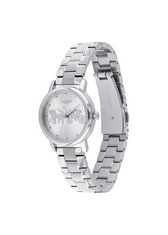 Silver color Analog . Grand Silver 28 mm Women's Watch -