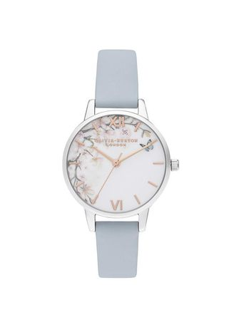 Silver color Analog . Olivia Burton Pretty Blossom Chalk Blue Women's Watch -