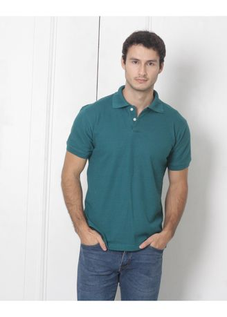 Green color T-Shirts and Polos . Men's People's Pride Plain Polo Shirt -