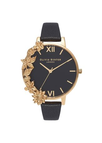 Gold color Analog . Case Cuffs Gold 38 Mm Women's Watch -