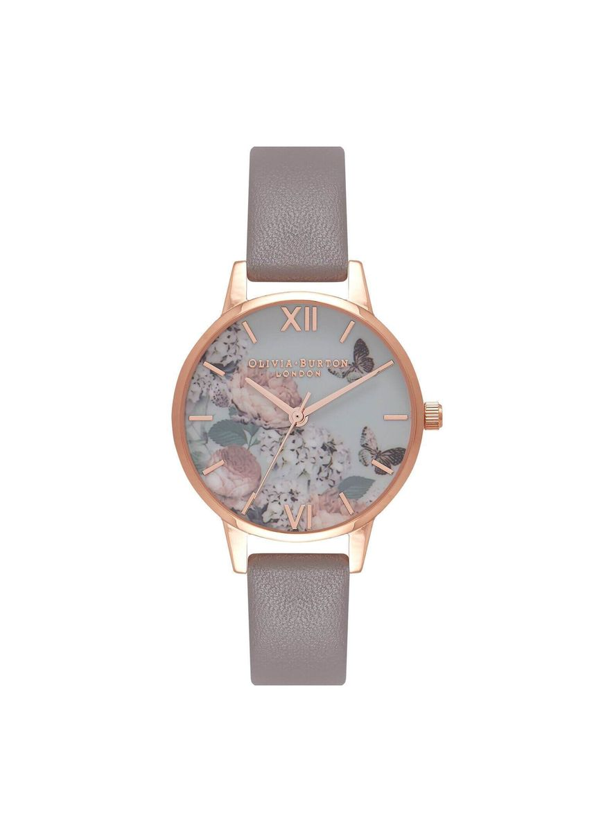 Pink color Analog . Enchanted Garden Rose-Gold 30 Mm Women's Watch -