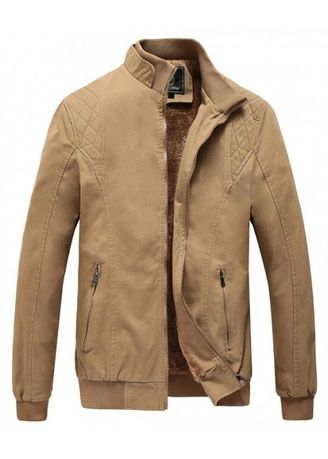 Blue color Jackets . Men Plus Size Casual Jacket Fashion All Match Military Style Stand Collar -