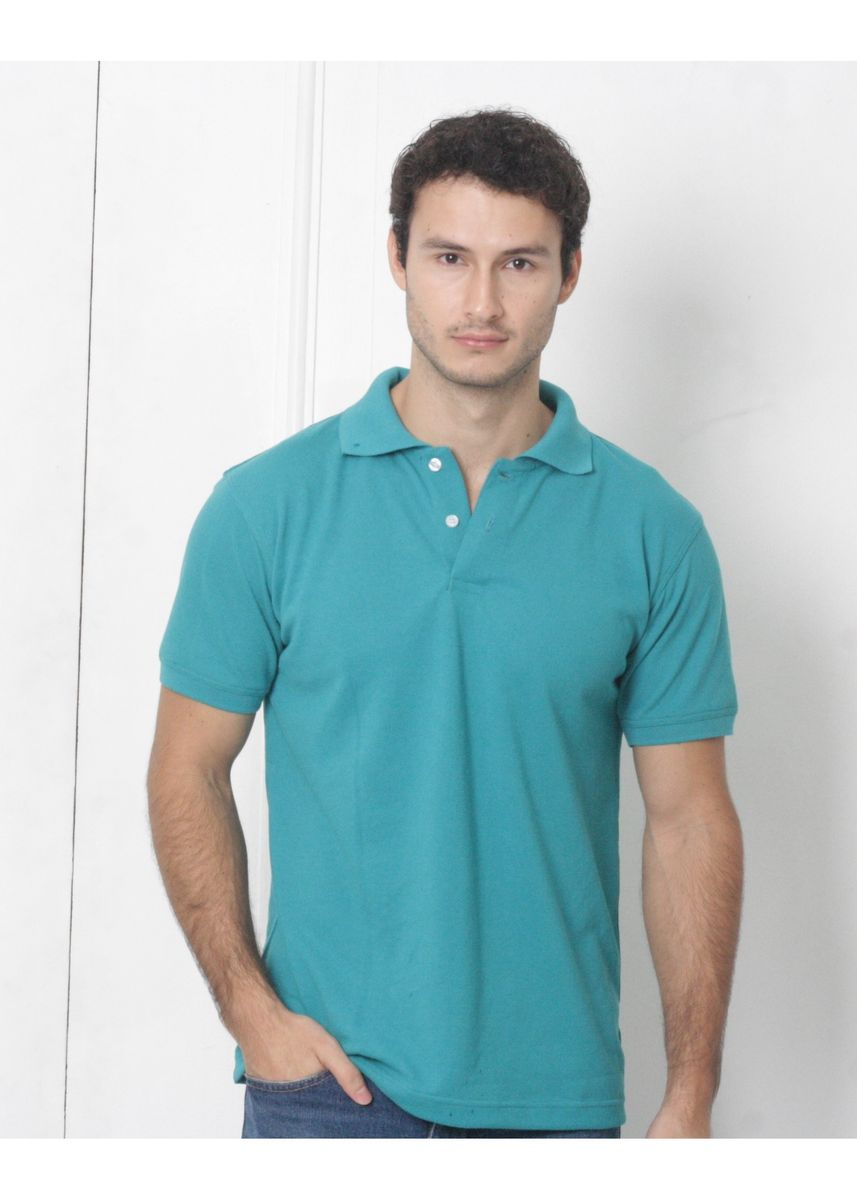 Olive color T-Shirts and Polos . Men's People's Pride Polo Shirt Plain (Jade) -