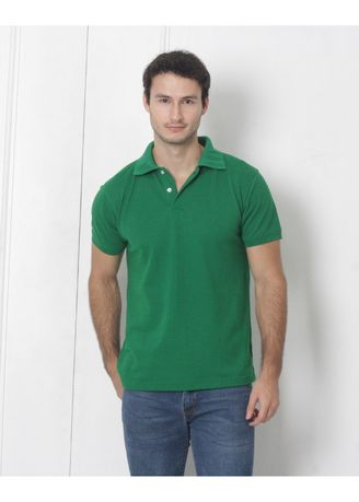 Green color T-Shirts and Polos . Men's People's Pride Polo Shirt Plain (Green) -