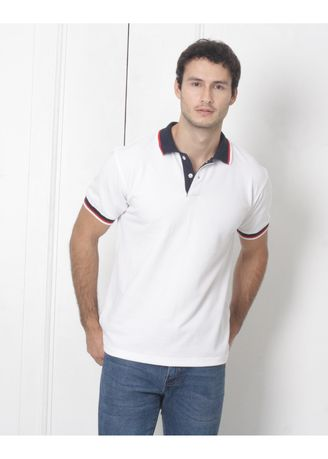 Selling Men's People's Pride Polo Shirt White w/Placket & Collar ...