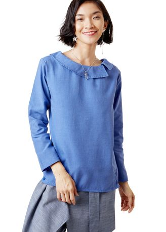Tops and Tunics . Eiluned Sleeve Blouse -